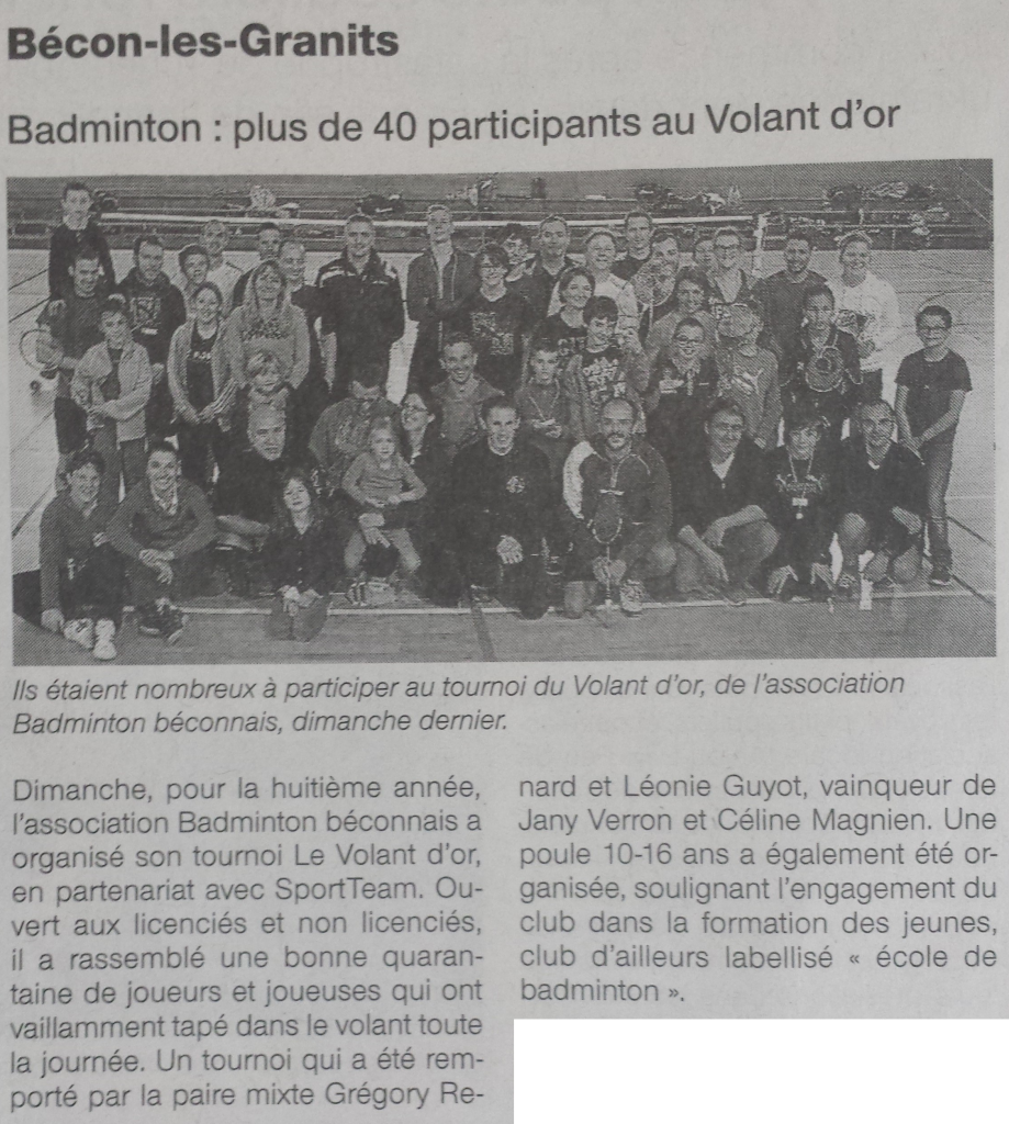 Article OF tournoi amical